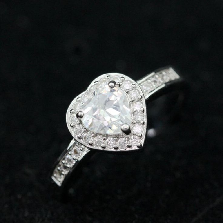 Find More Rings Information about 50% off Women's Heart Silver Promise Rings Wedding Band Girls Bague Argent Femme Sona CZ Diamond Zircon Jewelry China Ulove Y036,High Quality jewelry photo,China jewelry shapes Suppliers, Cheap jewelry bracelet from ULOVE Fashion Jewelry on Aliexpress.com