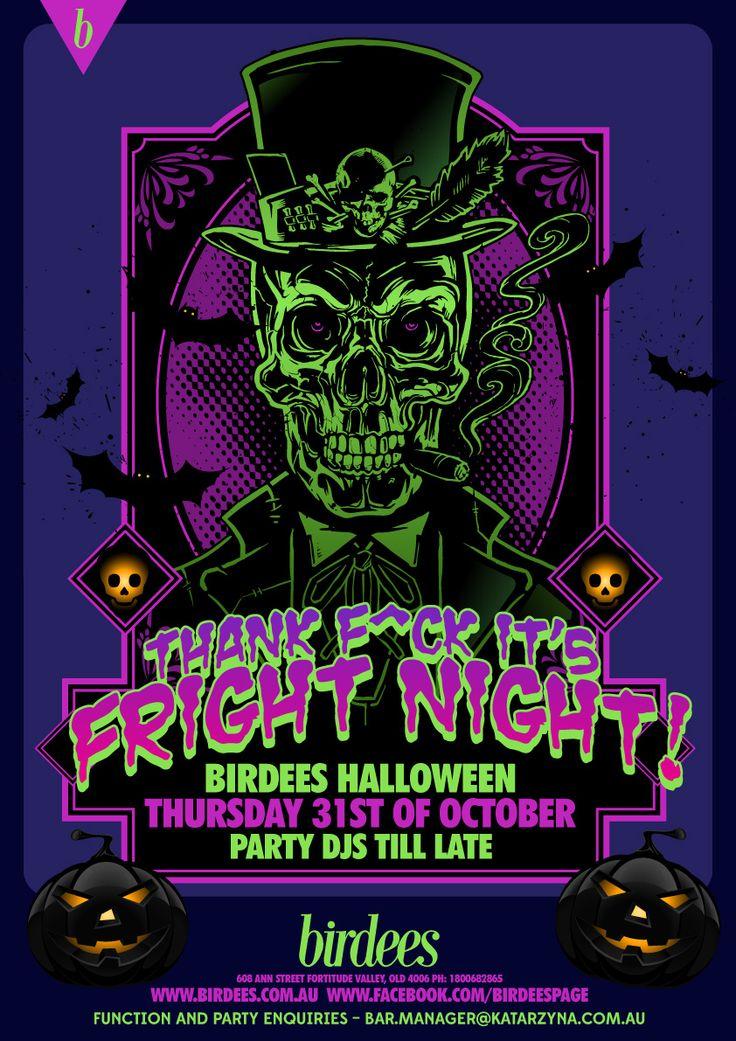 THANK F^CK IT'S FRIGHT NIGHT | OCT 31 #valley #party #dressup #halloween #valley #brisbane