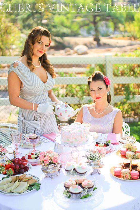 1950's inspired Pin Up Girl Bridal Shower Tea Party.   Cheri's Vintage Table - Home
