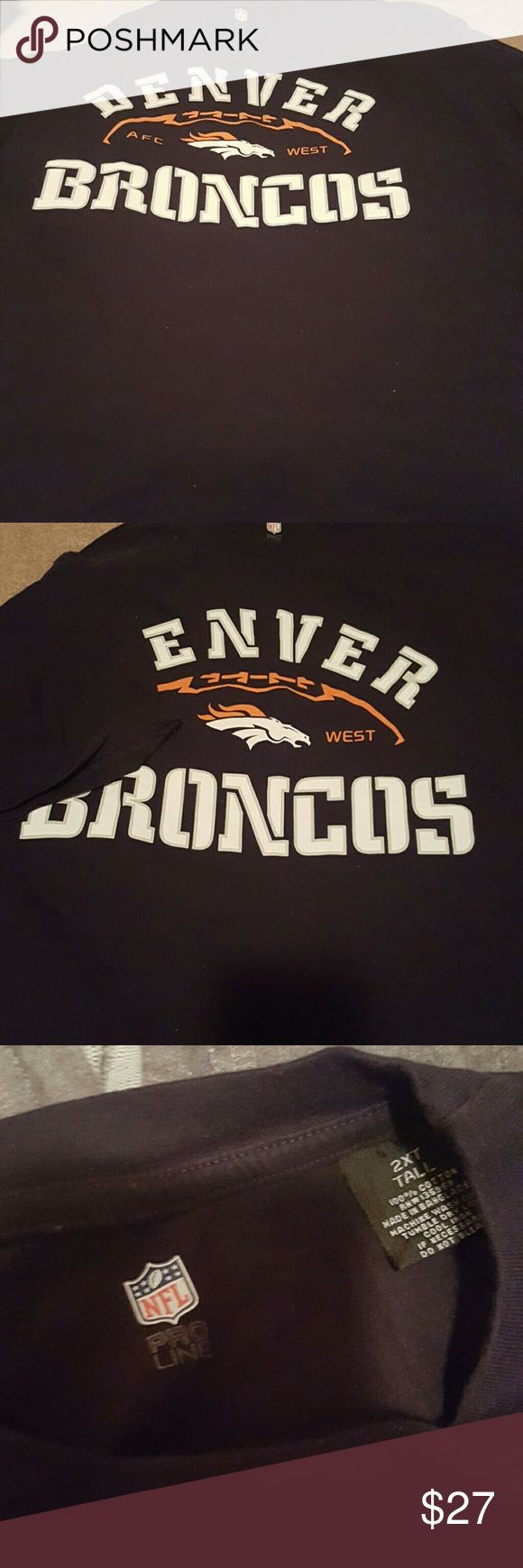 Denver Broncos t-shirt 2XL Tall Broncos t-shirt, excellent condition worn once NFL Pro Line Shirts Tees - Short Sleeve