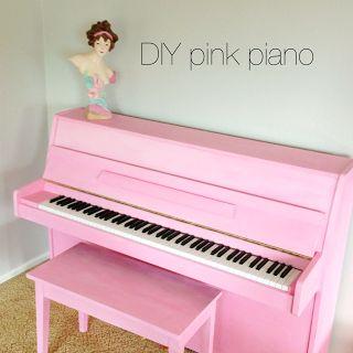 diy painted piano #furniturepainting