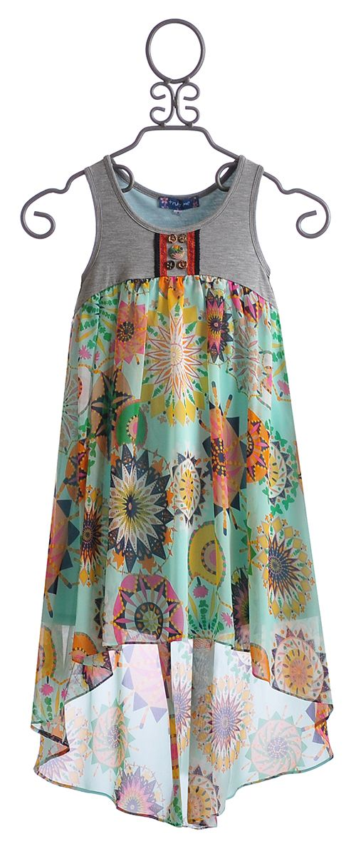 Truly Me Tween High Low Dress Maxi $68.00