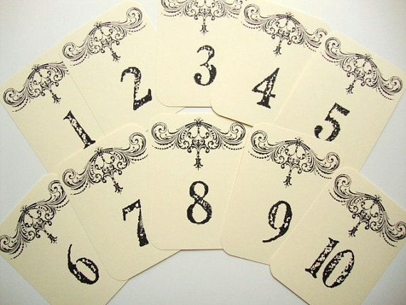 French Country Wedding Table Numbers Cottage by papergirlstudios, $16.00