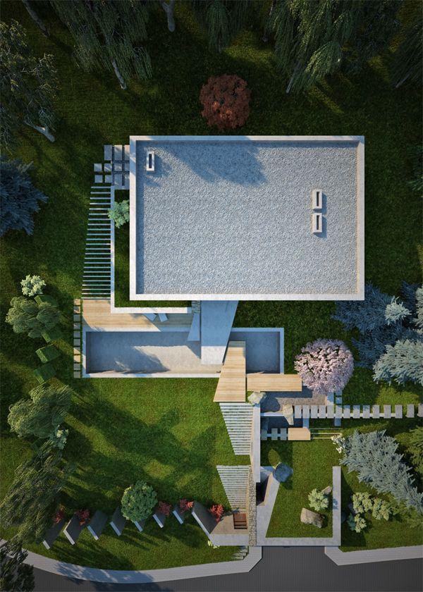 House U0026 Garden On A Steep Terrain By Antoaneta Yordanova, Via Behance