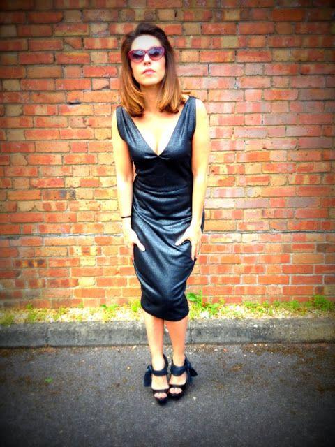 Me Made Metallic Number... #dressmaking #style #handmade #refashion #metallic #silver #fashion