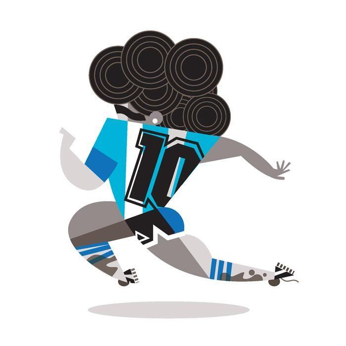 Diego Maradona by Pablo Lobato