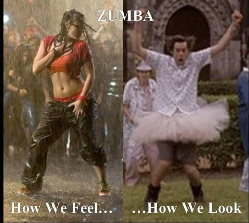 Thankful there are no mirrors in my Zumba class!!!