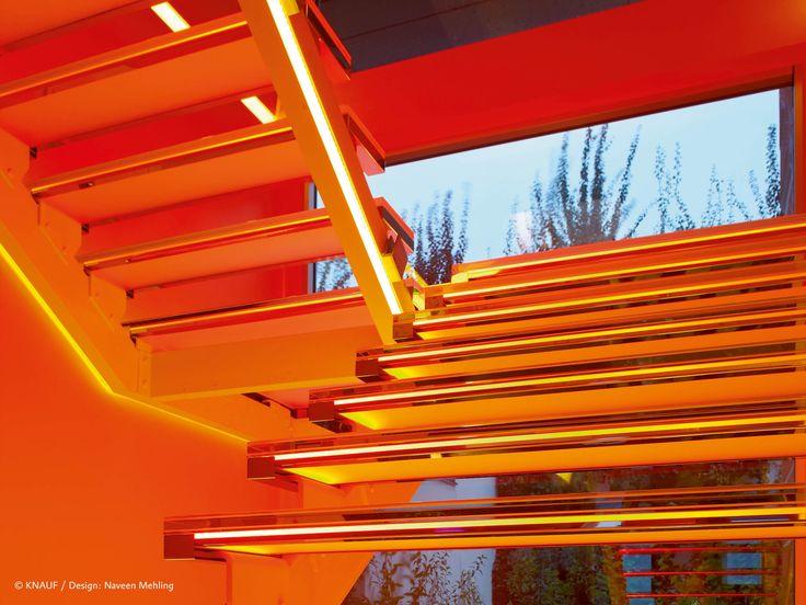 #orange is just one of the 16 million theoretically possible colors of this staircase made of #originalplexiglas #plexiglas #evonikplexiglas #acrylic #staircase #architecturelovers #architecture #design #art #creativity #hipster #beautiful #evonik