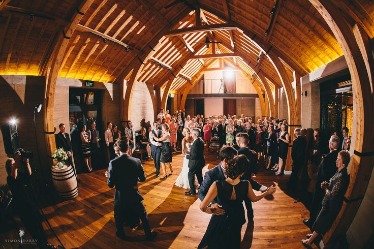 The family join in the first dance- at The Rippon Hall, Lake Wanaka