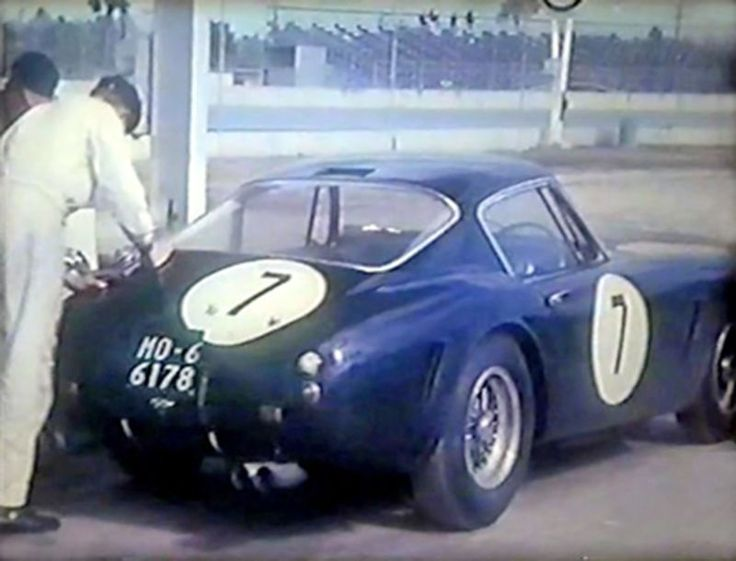 Ferrari 250 GT SWB of Innes Ireland. The car was a DNF. (Photo capture from Levetto family films)