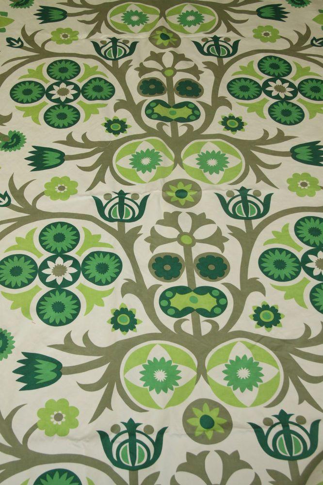 Vintage Retro 1960s Robert Dodd  Capella  Curtain Fabric