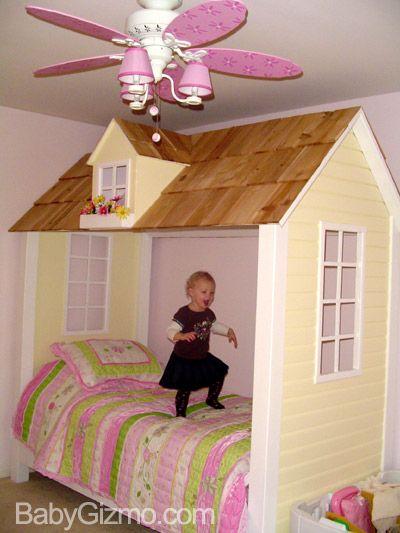 DIY Princess Bed #diy #kidsroom