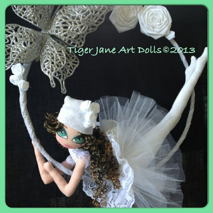 Christmas Ring Dancer - Charly Silver by Tiger Jane Art Dolls. www.facebook.com/tigerjaneart