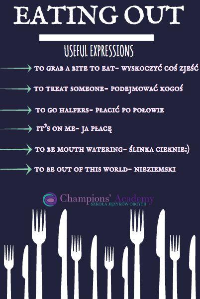 Eating out, czyli jedzenie na mieście i przydatne zwroty #angielski #edukacja #języki #championsacademy
