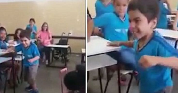 The boy's mother was moved to tears by the video.