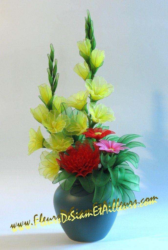 Bouquet de Glaïeuls, Chrysanthème et Marguerites