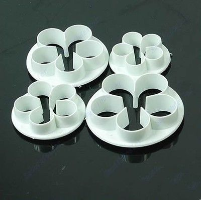 4pcs Rose Flower Plunger Cutters, Free Shipping!