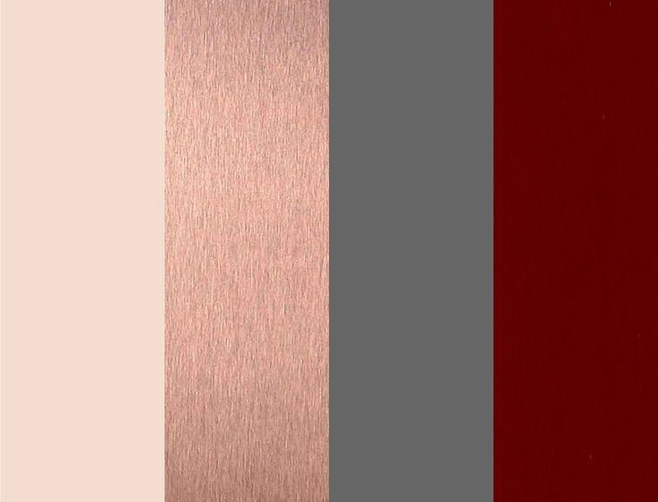 My personal color palette! I couldn't find anything like what I wanted, so I made my own :) Ivory, Rose Gold, Grey, and Burgundy! The perfect mix of classic and trendy!