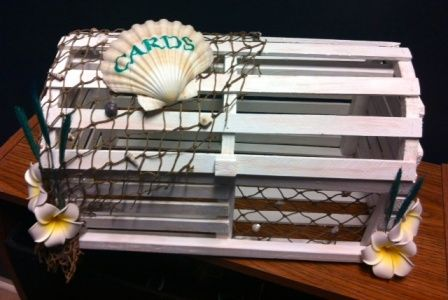 DIY Lobster Trap Card Box | Weddingbee Photo Gallery
