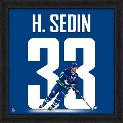Henrik Sedin Framed Vancouver Canucks 20x20 Jersey Photo