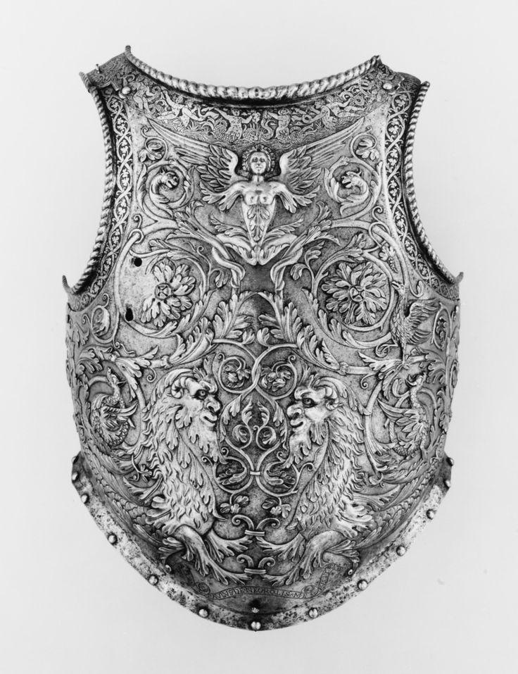 lostsplendor: Breastplate by Giovanni Paolo Negroli, Milan c. 1540 (via The Metropolitan Museum of Art)