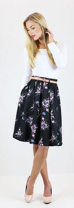 Plena falda de flores * LIQUIDACIÓN * [MSS9202] - $ 39.99: Mikarose Boutique…