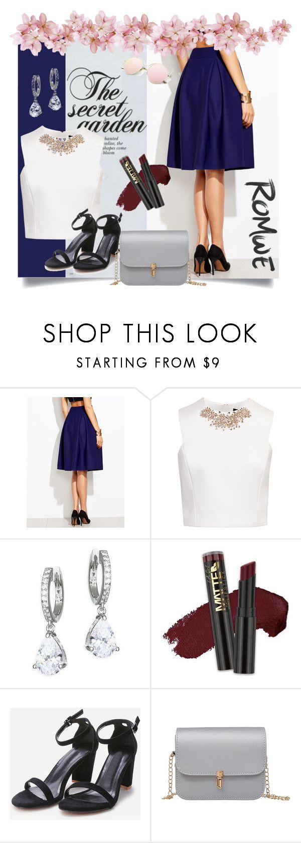 """Romwe"" by kanita-b ❤ liked on Polyvore featuring Ted Baker, Kate Spade and L.A. Girl"