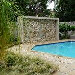Pool paving and stone cladding