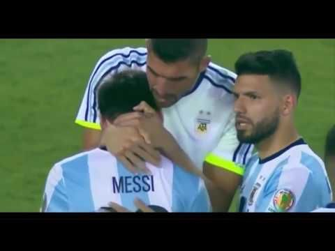 Lionel Messi crying after losing Copa America 2016 Final