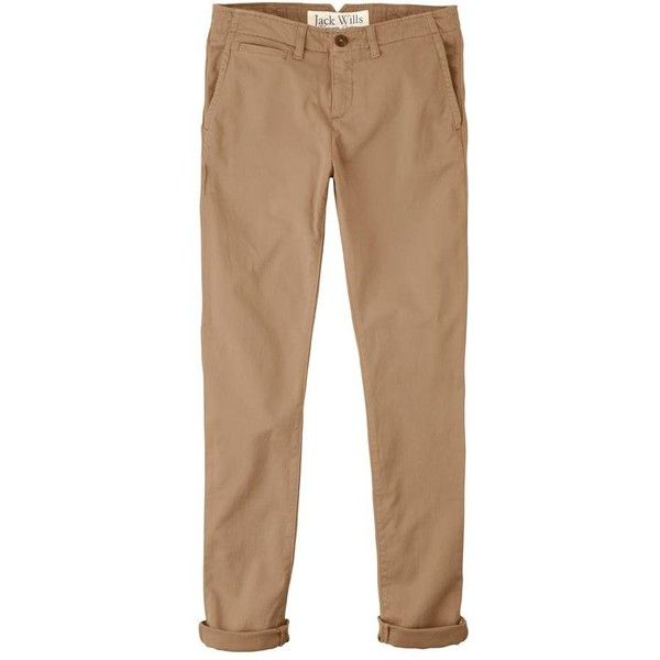 Jack Wills Hollingworth Chino ($29) ❤ liked on Polyvore featuring pants, bottoms, jeans, trousers, low rise pants, beige skinny pants, jack wills, skinny chinos pants and chinos pants