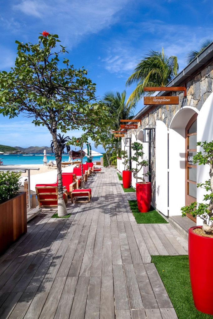 Eden Rock in St Barths decking leading down to the beach http://www.caribtours.co.uk/regions/caribbean-mexico/st-barths/eden-rock/