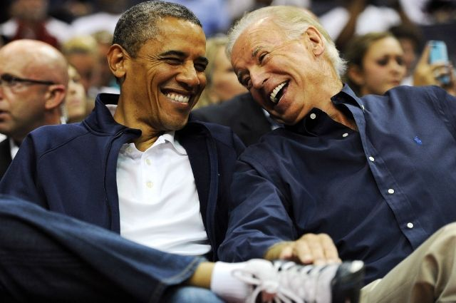With Joe Biden at a basketball game at the Verizon Center in 2012
