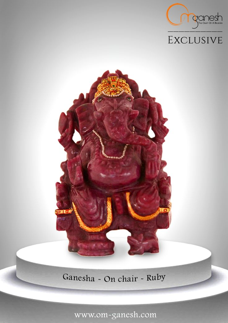 An exquisite idol of Ruby, Lord Ganesha stands for positivity and strength. Welcome Him home, and take in good vibes.