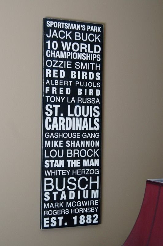 LOVE THIS! A classy way to show love for my St. Louis Cards