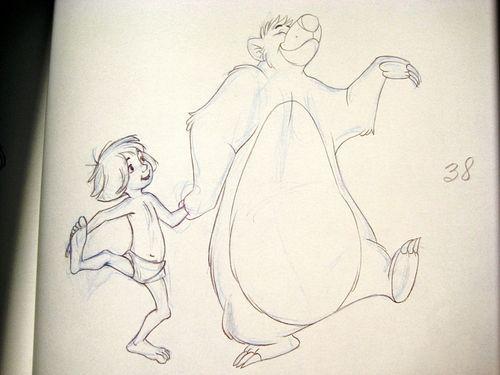 Walt Disney Animation - Mowgli & Baloo