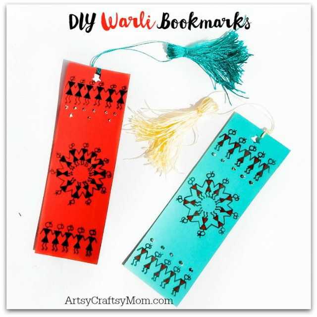 Warli paintings use a very basic graphic vocabulary: a circle, a triangle and a square. If you enjoy reading then you will like these Warli Bookmarks for Kids