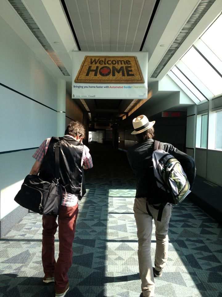 Paul Westerberg and Tommy Stinson of the Replacements heading to Toronto for the Riot Fest!!!  They are playing tonight for the first time in 22 years.  Have a great show everyone.  Can't wait to hear the details.