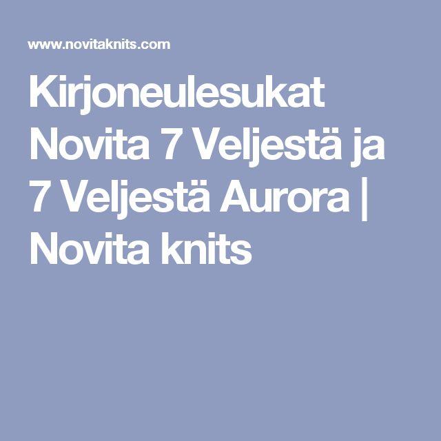 Kirjoneulesukat Novita 7 Veljestä ja 7 Veljestä Aurora | Novita knits