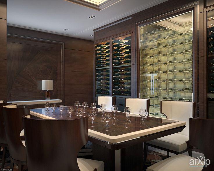 Фото Винотека. - интерьеры, квартира, дом, подвал, погреб, винный погреб, современный, модернизм, 30 - 50 м2