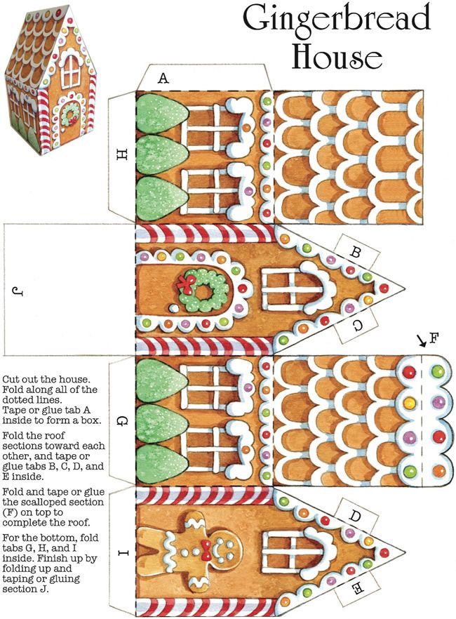 FREE printable Gingerbread House ~ scrapbookalphabet.blogspot.com