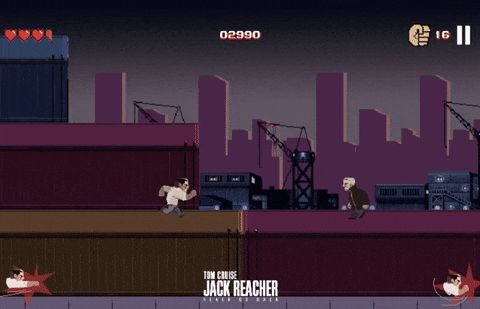 8-bit Jack Reacher game pays homage to a running joke about Tom Cruise running