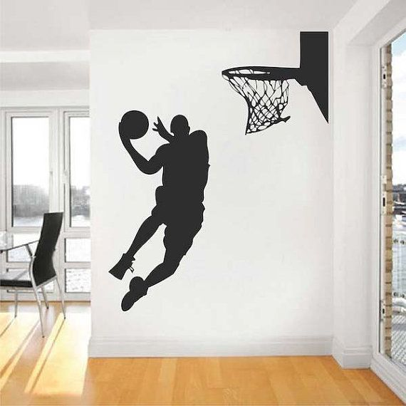 Basketball Player Wall Decal por trendywalldesigns en Etsy, $64.95