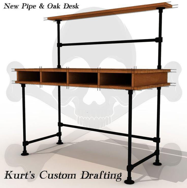 Best 25+ Industrial pipe desk ideas on Pinterest | Pipe desk, Diy ...