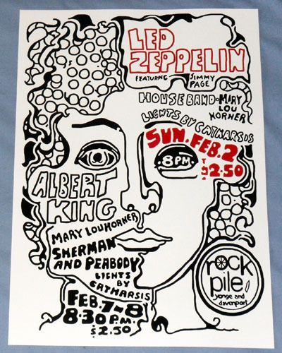 Led Zeppelin Concert Poster - The Rockpile Club - Toronto 1969 - First US Tour
