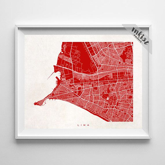 Lima Map, Peru Print, Lima Poster, Peru Art, Wedding Gift, Office Wall Art, Map Art, Baby Room Decor, Baby Shower Gift, Christmas Gift, Wall Art. PRICES FROM $9.95. CLICK PHOTO FOR DETAILS. #inkistprints #map #streetmap #giftforher #homedecor #nursery #wallart #walldecor #poster #print #christmas #christmasgift #weddinggift #nurserydecor #mothersdaygift #fathersdaygift #babygift #valentinesdaygift #dorm #decor #livingroom #bedroom