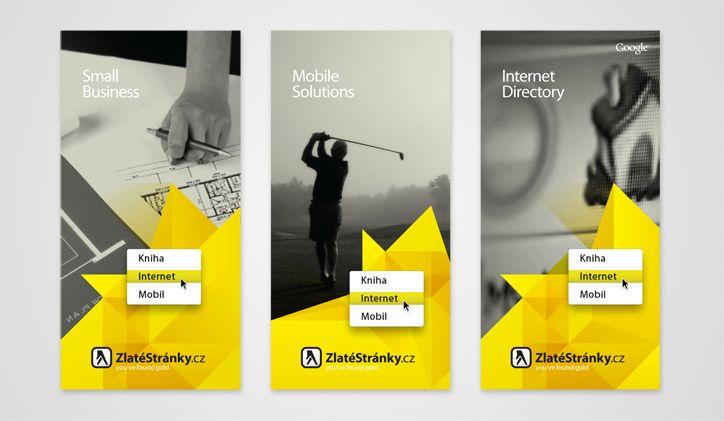 Šablona layoutu Zlatých stránek pro obálku brožury, 2008. #Mediatelcz