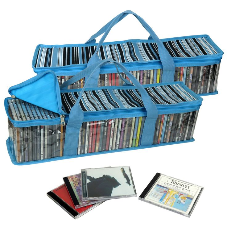 Evelots 2 CD Storage Organizers W/ Stripes Pattern,Each Holds 52 CDs,104 Total