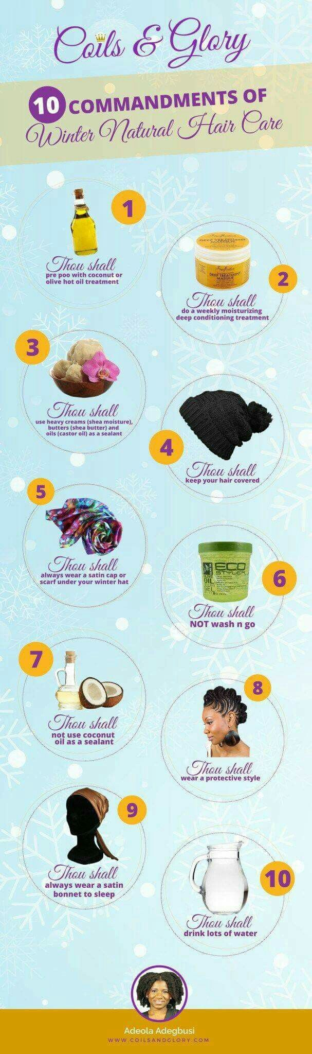 10 Commandments of Winter Natural Hair Care