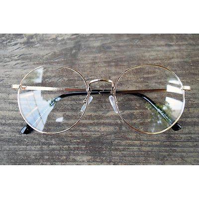 Nerd Brille filigran rund Glasses Klarglas Hornbrille treber 16R91 gold findhoon in Kleidung & Accessoires, Herren-Accessoires, Sonnenbrillen & Brillen | eBay