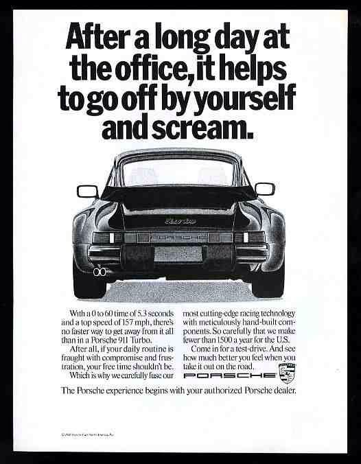 Porsche 911 Turbo 1989 advertisement